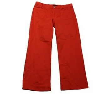 SANCTUARY Cropped Flare Poppy-colored Jeans